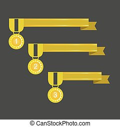Ribbon rosette vector