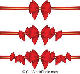 ribbon?, set, archi, regalo