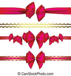 ribbon?, set, buigingen, cadeau