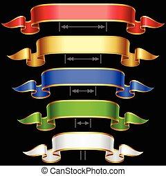 Ribbon set with adjusting length