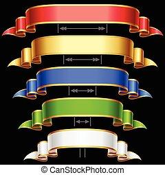 Ribbon set with adjusting length.
