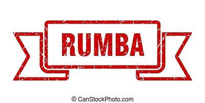 ribbon., spandoek, teken., grunge, band, rumba