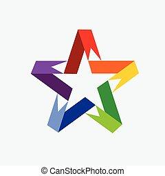 Ribbon Star vector