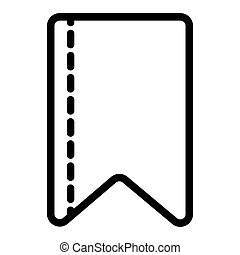 Ribbon strip line icon. Bookmark vector illustration isolated on white. Ribbon tape outline style design, designed for web and app. Eps 10.