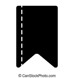 Ribbon strip solid icon. Bookmark vector illustration isolated on white. Ribbon tape glyph style design, designed for web and app. Eps 10.
