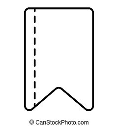 Ribbon strip thin line icon. Bookmark vector illustration isolated on white. Ribbon tape outline style design, designed for web and app. Eps 10.