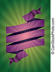 ribbon sunburst