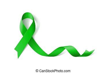 Ribbon Symbol - White Banner with Organ Transplant and Organ...