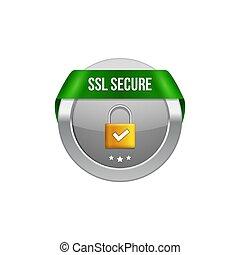 ribbon., transaction, assurer, serrure, bouton, symbole., ssl, garde, protection, conception, sécurité, icône