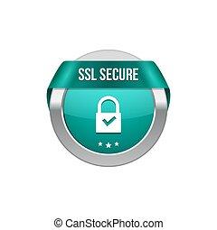 ribbon., transaktion, säkra, låsa, knapp, symbol., ssl, vakt...
