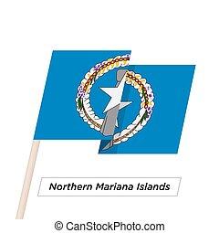 Ribbon Waving Flag Isolated on White