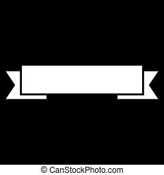 Ribbon white color icon .
