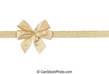 ribbon with bow isolated on white