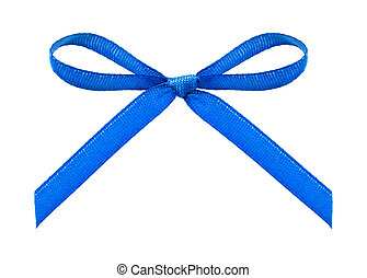 ribbon with bow on isolated white b