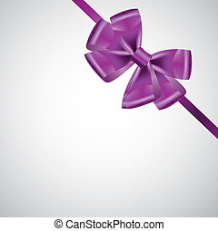 ribbon with bow on white