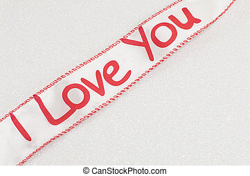 Ribbon with I love you sign