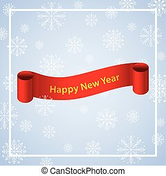 ribbon with snowflakes new year