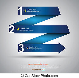 ribbon zigzag - vector business concepts / element object /...