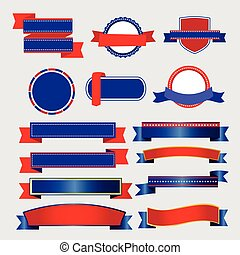 Ribbons and Banners American vector