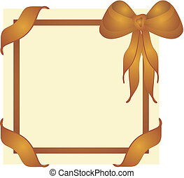 Ribbons and Bows - Elegant gift cover, memo board or sign...