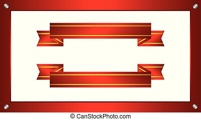 Ribbons background, Red ribbons