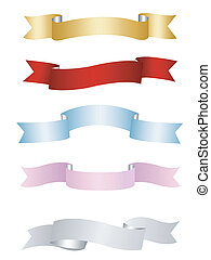 ribbons, banners set