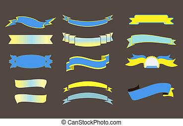 Ribbons Big Set, Isolated Vector Illustration