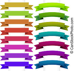 Ribbons Collection, Isolated On White Background, Vector...