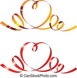 Ribbons in shape of heart