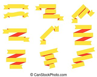Ribbons isolated on white background. Vector illustration