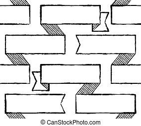 Ribbons seamless pattern