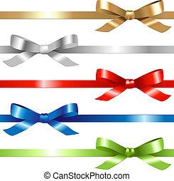 Ribbons Set - 5 Ribbons, Isolated On White Background,...