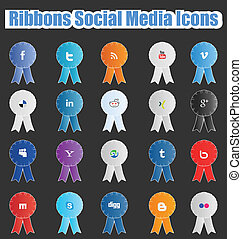 Ribbons Social Media Icons