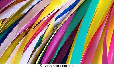 ribbons., tordre, arc-en-ciel, multicolore, en mouvement, raies, résumé, cercle, seamless, fond