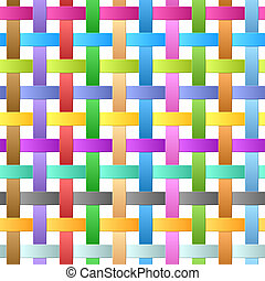 Ribbons weave - Seamless illustration