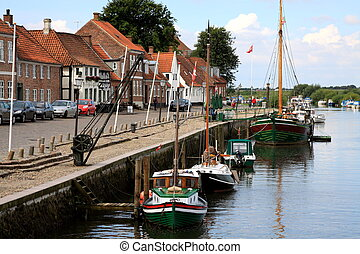 Ribe of the few towns in Denmark - Ribe is one of the few...