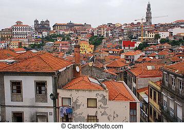 ribeira, dans, porto, portugal.