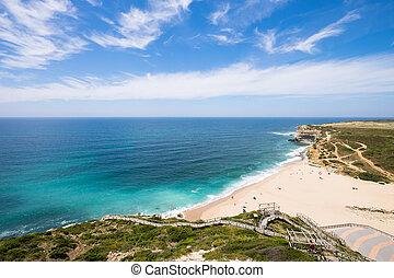 Ribeira dilhas beach in Ericeira, Portugal
