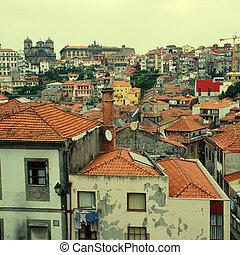 ribeira, do, porto, portugal.