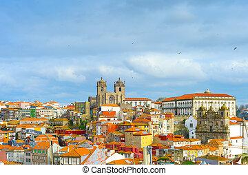 Ribeira Old Town Porto, Portugal - View of Ribeira ...