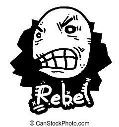ribelle, bastone