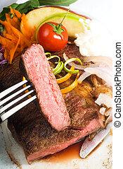 ribeye, bifteck, boeuf