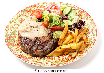 ribeye, cena, bistecca
