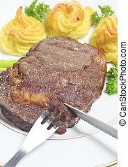 ribeye, holle weg, biefstuk