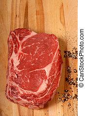ribeye, pepe, bistecca, nero, fesso