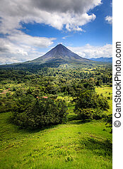 rica, costa, arenal 火山
