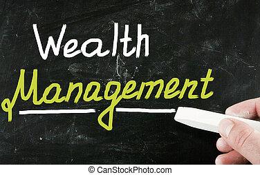 ricchezza, amministrazione, concetto