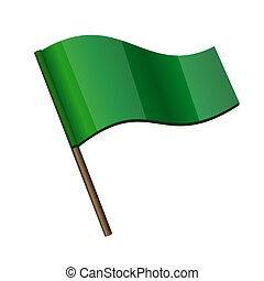 I QUATTRO CAVALIERI DELL'APOCALISSE  Riccio-bandiera-verde-icona-vettore-clipart_csp18458469