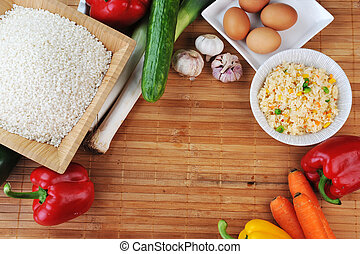 rice and vegetables - white rice and variety of vegetables...