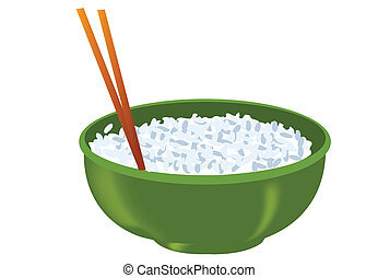 rice bowl illustration